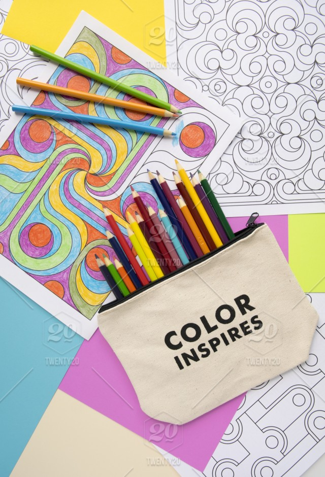 - Adult Coloring Books And Pencils Flat Lay Stock Photo  Bf69775e-8f55-47c9-a576-f5ad2663c55d