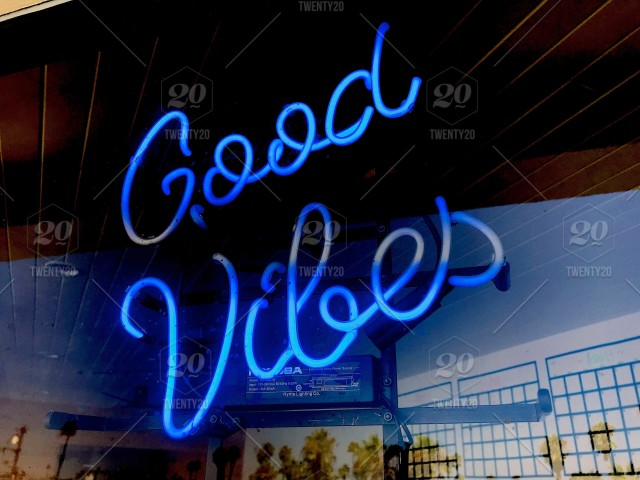 Really Cool Cursive Neon Sign In A Store Window With Palm Trees The Reflection Good Vibes Tonythetigersson Tony Andrews Photography NOMINATED
