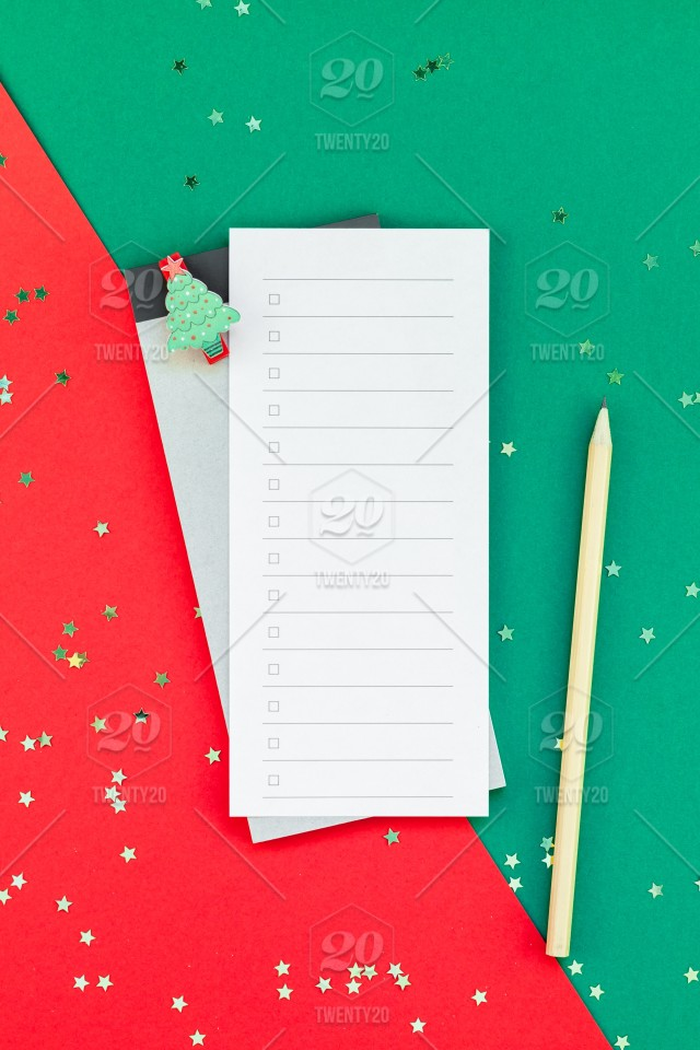 creative new year or christmas todo list event planner mockup flat