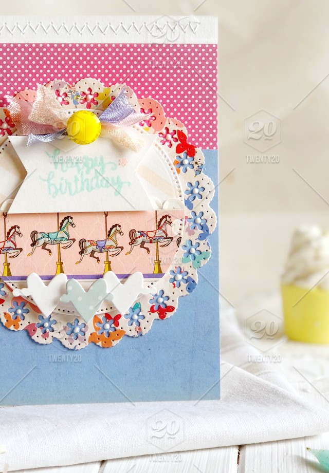 Happy Birthday Handmade Greeting Card Pretty And Colourful