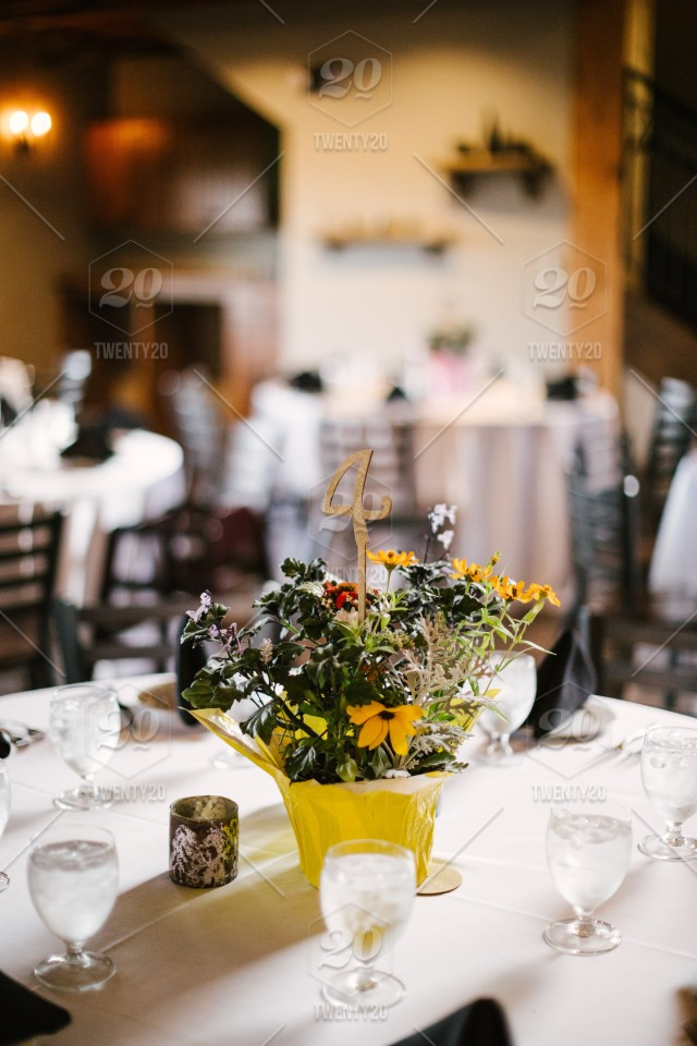 High Resolution Digital Color Photo Of A Decorated Table Centerpiece