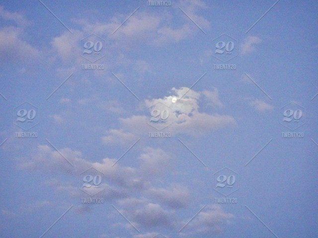 Once In Blue Moon What Was Hiding >> Background Photo Of Beautiful Pastel Blue Sky With The Moon Hiding