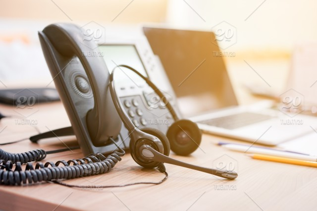 Close Up Soft Focus On Headset With Telephone Devices At Office Desk For Customer Service Support Concept Stock Photo 02171962 Cbf3 47e8 8a22 3979d4babc9d