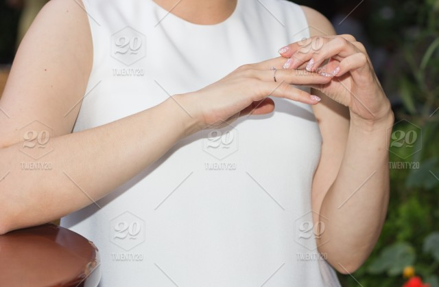 Which Hand Wedding Ring Female.Woman Hand Hands Part Of Body White Wedding Ring Female Hands