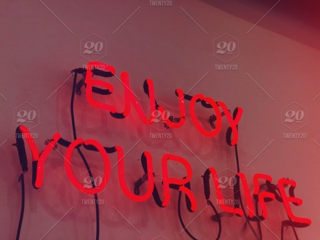 Enjoy Your Life Love Life Neon Letters Neon Lights Neon Lighting