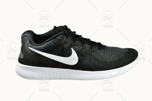 013adb4ce Product shoot of Nike men's sport running shoe on white background ...