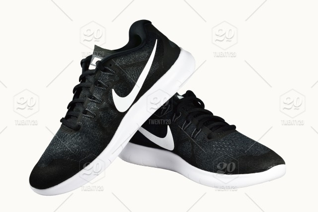 a41c4053 Leather,foot,running,shoes,isolated,nike,shoe,black,white,sport ...