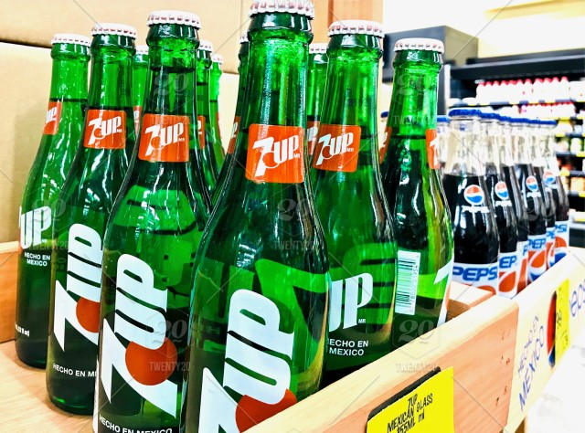 Editorial Image Of Mexican 7up And Pepsi In The Original Retro