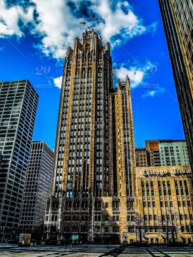 361d3f92d The Tribune Tower is a skyscraper designed by architects John Howells and  Raymond Hood in neo-Gothic style. It is located at 435 Michigan Avenue on  the ...