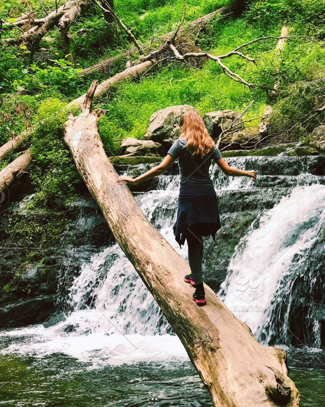 Nature Outdoors Beauty In Nature Water Tree Forest Waterfall Hiking Girl Hike Stock Photo F646f066 30dd 4780 A730 9bb7b0d49a17