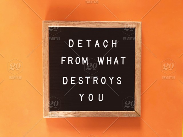 Detach From What Destroys You Quote Quotes Wise Words Great