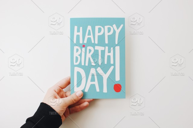Stock Photo Quote Birthday Postcard Wishes Happy Greeting