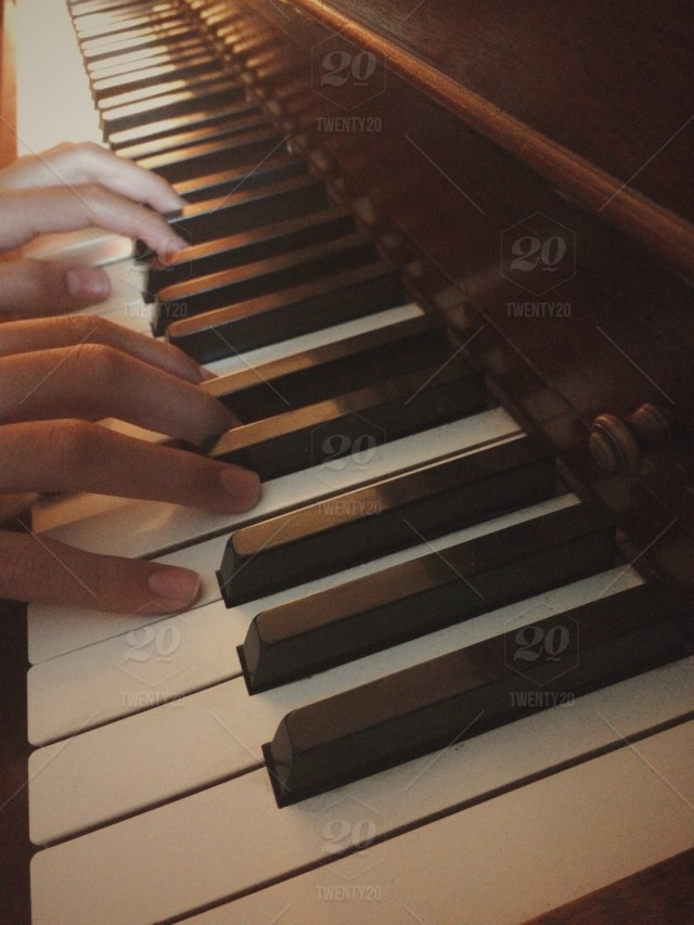 Closeup of a teenager playing the piano  Music, piano, hands  piano