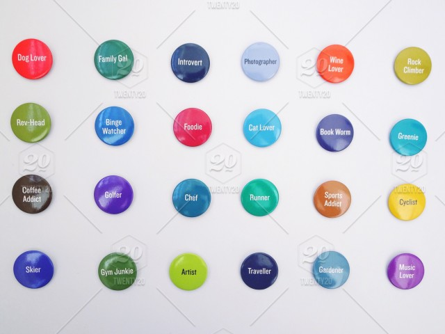 b1d00889e7e Which one is you  Bright and colorful badges