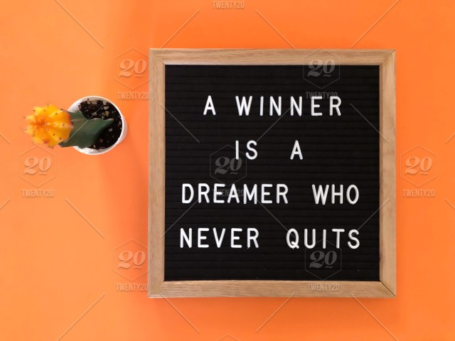 Motivational inspirational quote positive life poster picture print WINNERS NEVE