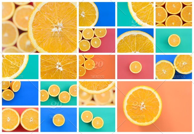 Fruit Orange Collage Fruits Fresh Oranges Citrus