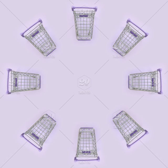 View, top, cart, background, supermarket, shopping, trolley