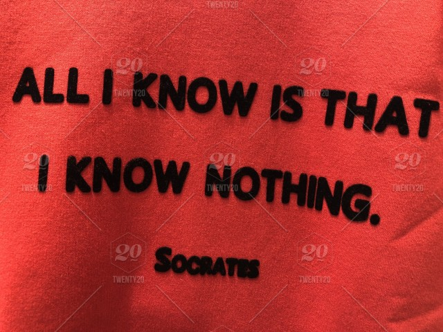All I Know Is That I Know Nothing Socrates Quote Philosophy