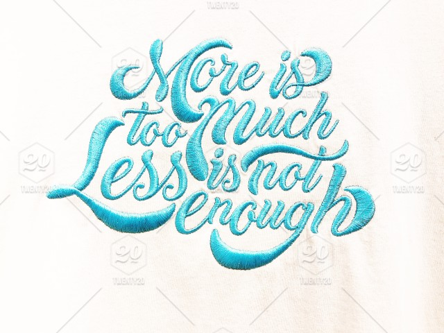 More Is Too Much Less Is Not Enough Quotes And Sayings