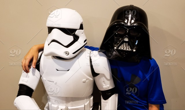 Darth Vader and a Storm Trooper are best friends and ready for ... d5b4ff614