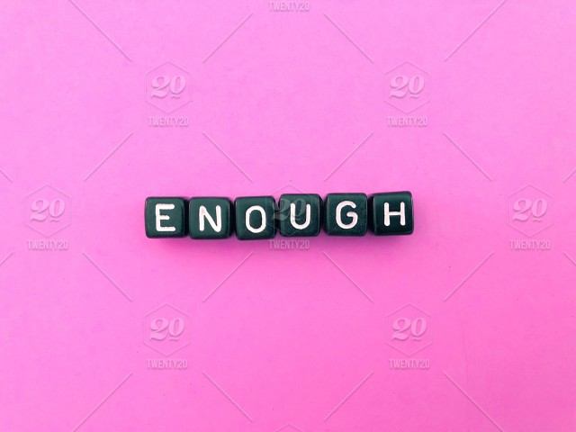 Enough  Word  Words  Letters and words  Alphabet letters