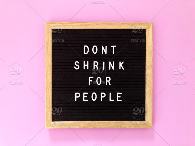 Great Quotes | Don T Shrink For People Quote Great Quotes Black Message Board