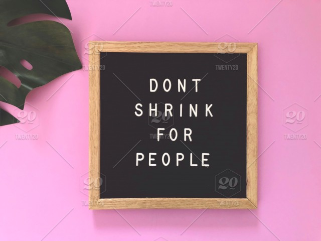 Dont Shrink For People Quote Great Quotes Black Message Board