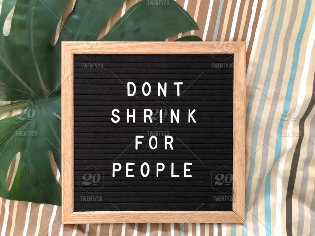 Don't Shrink For People Message Board On Bed Inspiration Stunning Lesson In Life Quote