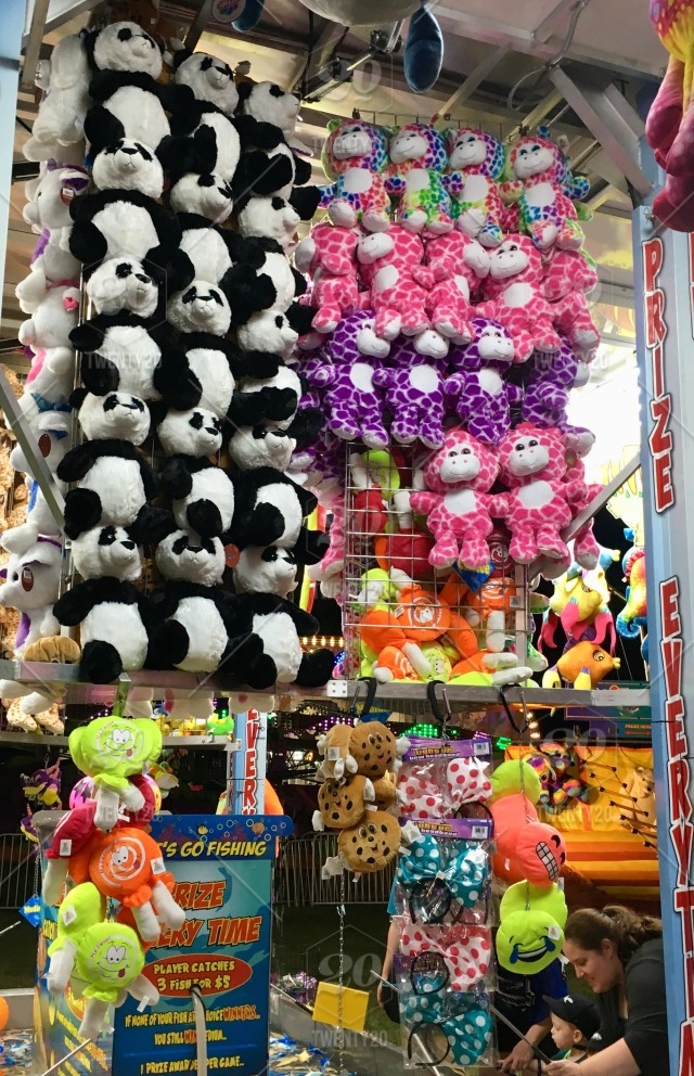 Stuffed Animals To Win At Carnival Bright Colors Stock Photo 740062c9
