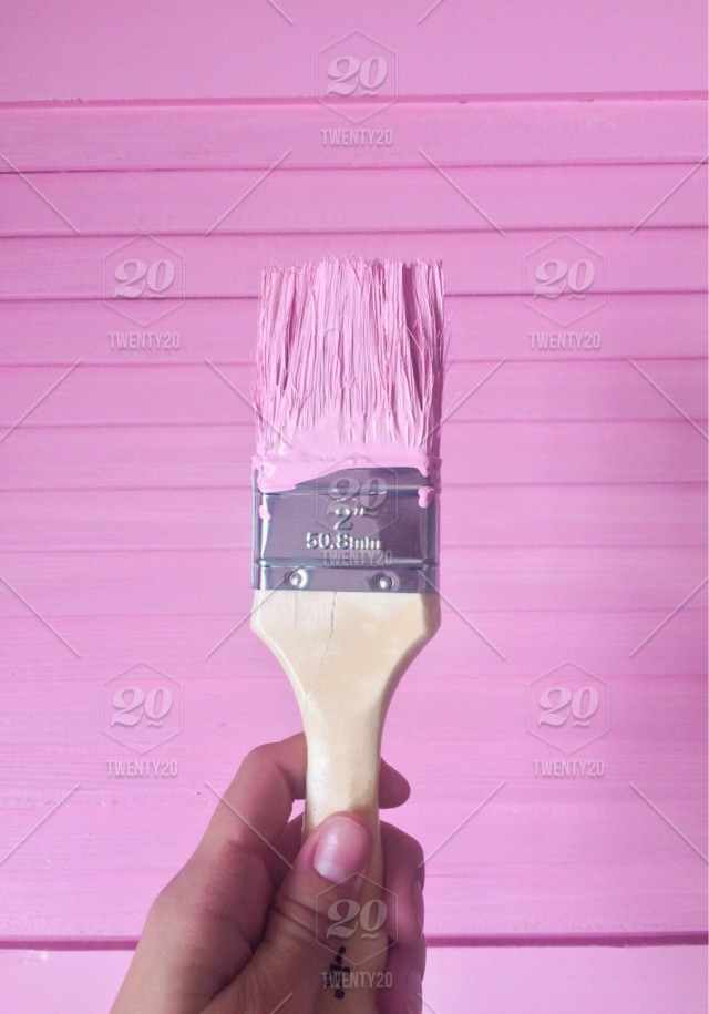 Pink Brush Wall Painting Wall Pink Wall Remodeling Home