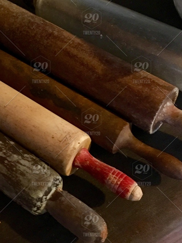 Old wooden rolling pins stock photo f1d40edd-be5f-46a4-a3f4