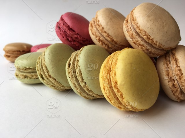 Cookie Sweet Food Macaroons Close View Closeups French Cuisine