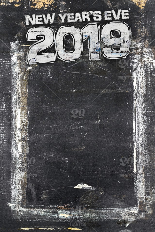 2019 Happy New Year Grunge Background For Your Flyers