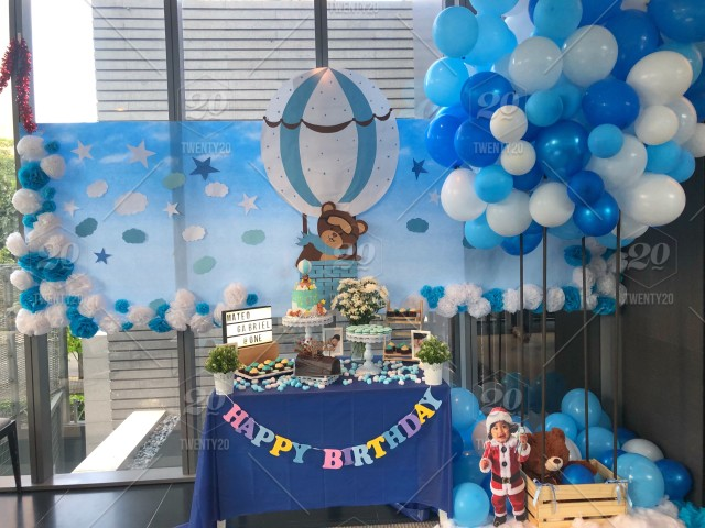 Birthday Party Baby Boy Birthday Decoration Decoration Ideas Cakes And Macaroons Party Stuff Christmas Day White And Blue Party Balloons Stock Photo 3362c40c 79f0 4e95 95a3 B1b2d242dd58