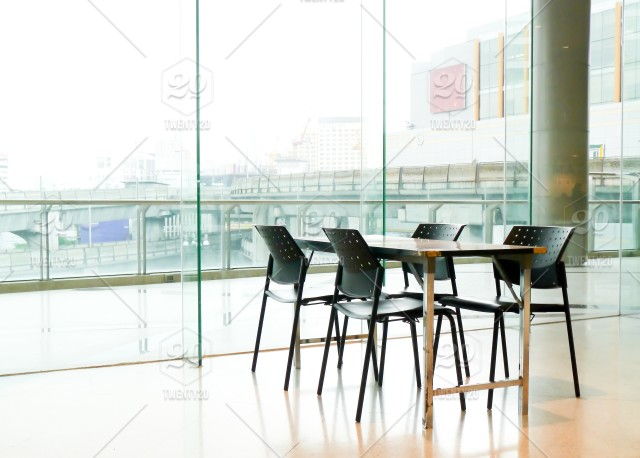 Conference table by the window architecture