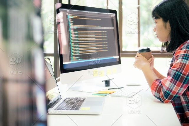 Programmer And Ux Ui Designer Working In A Software Development And Coding Technologies Stock Photo B94ceaca Aaaa 4c8d B09b Ffa08cfd38af