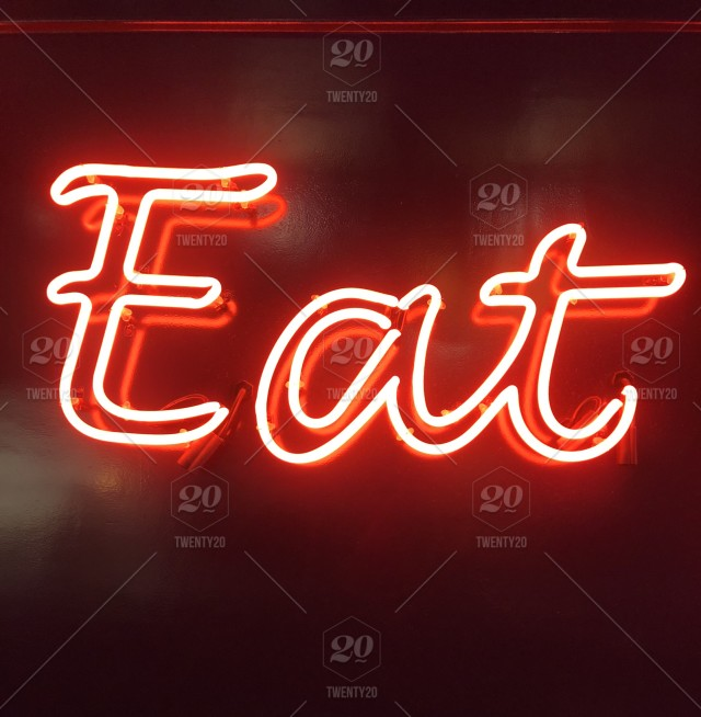 Eat red neon sign  Red, words, wild words, neon, sign
