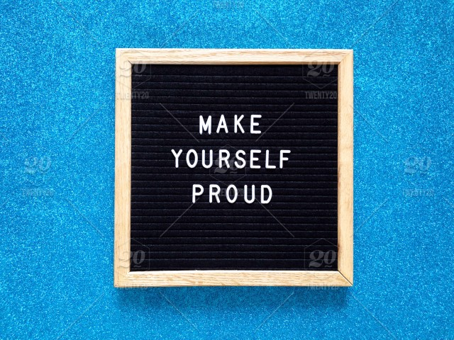 Make Yourself Proud You Can Do It Pride Letter Board Message