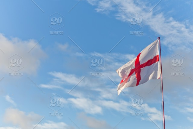 d4b10eb9 English Flag, the Cross of St George, a red cross on white background ...