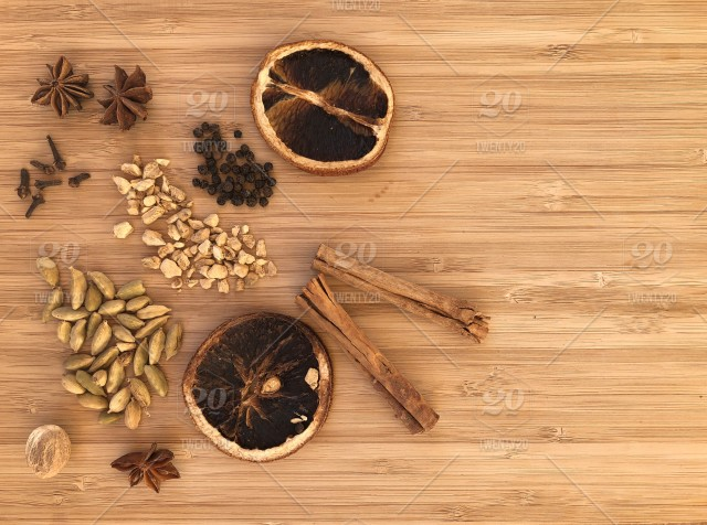 Flatlay Food Photography Spices Ingredients For Making
