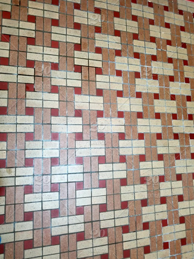 Geometric Shapes Colorful Floor Tiles In Geometric Shapes Abstract