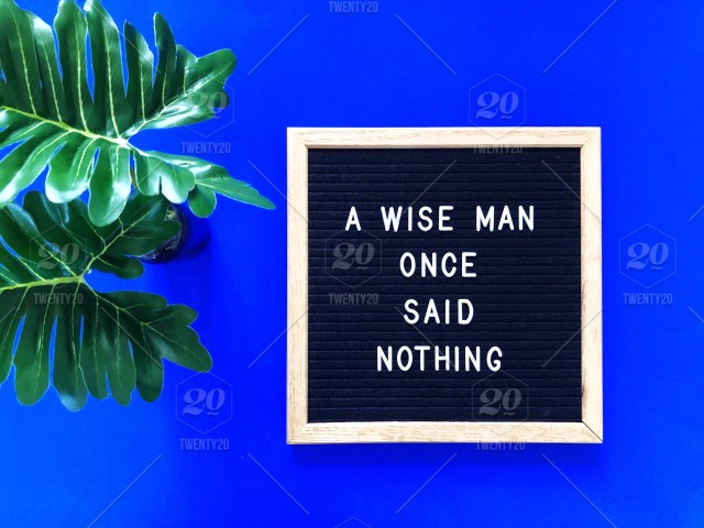 A Wise Man Once Said Nothing Letter Board Message Board Quote