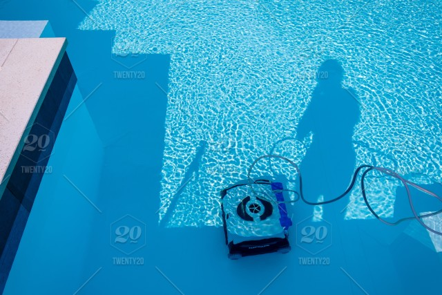 Swimmingpool Travel Italy Silhouetten Cleaning Robot stock ...