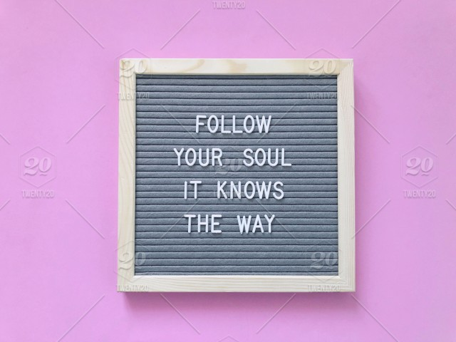 Follow your soul. It knows the way. Lost. Search. Follow ...