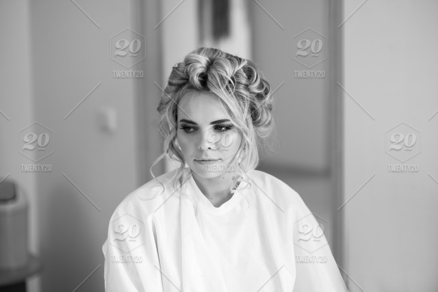 89d07e2d659 makeup artist preparing bride before the wedding in a morning  hair  salon stylist make up girl  young professional service work working style eyes eyelashes  ...