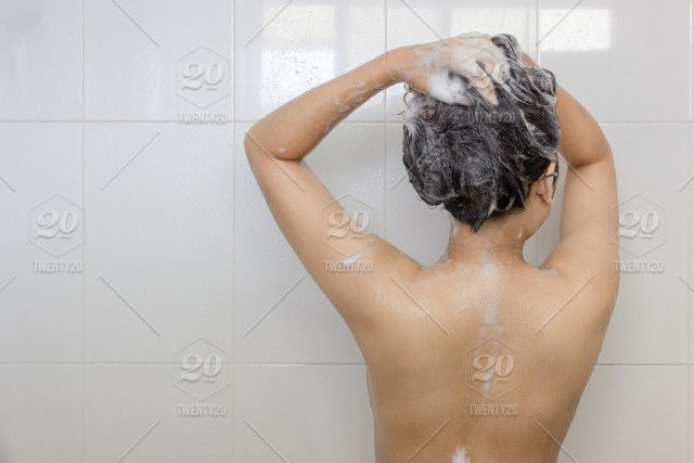 Asian chick in shower