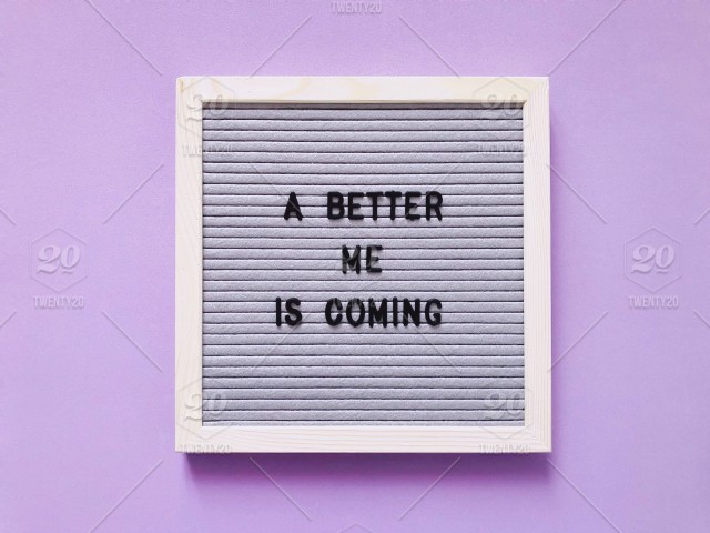 a better me is coming letter board message board inspiration