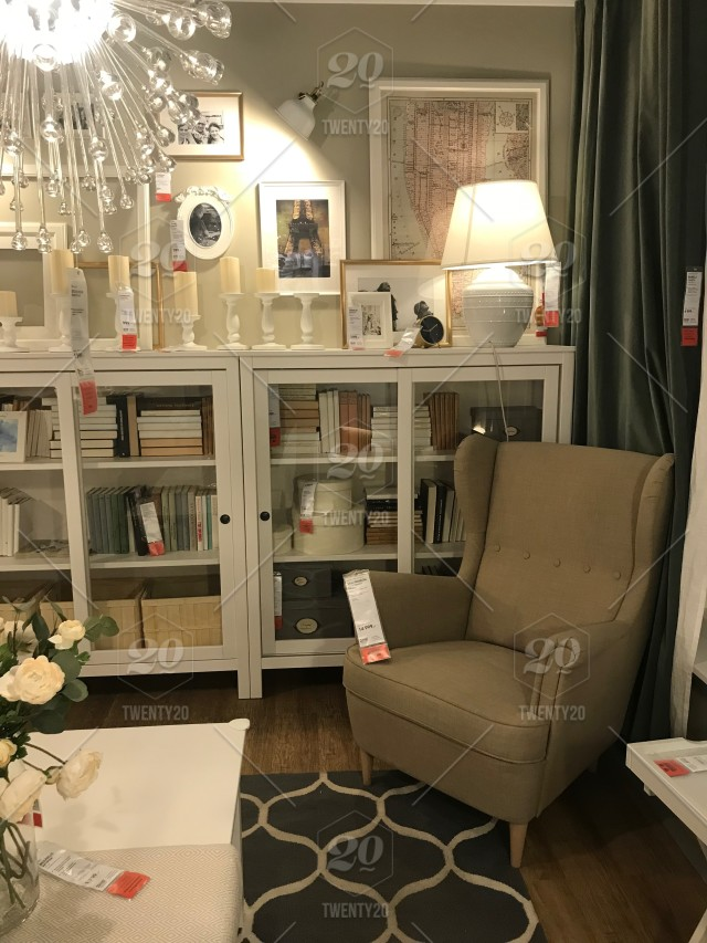 Living Room Ikea Furniture Design Indoor Interior Store Table Cabinet Comfortable Sweden Decor Home Living Room Modern Style Swedish Lighting Chair Clock Different Large House Sale Price New Inside Nobody Ikea Store