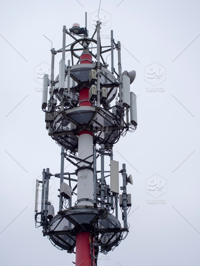 Huge and tall antenna for gsm operators and internet  4G operator