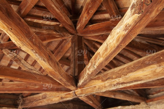 Wood, roof, building, old, ceiling, brown, architecture